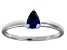 Bella Luce®.67ct Pear Shape Tanzanite Simulant Sterling Silver Solitaire Ring