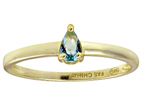 Bella Luce®.60ct Apatite Simulant 18k Yellow Gold Over Silver Solitaire Ring