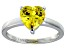 Bella Luce®2.90ct Yellow Diamond Simulant Rhodium Over Silver Solitaire Ring