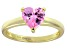 Bella Luce®1.92ct Pink Diamond Simulant 18k Yellow Gold Over Silver Ring