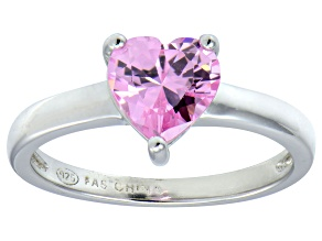 Bella Luce®1.92ct Pink Cubic Zirconia Rhodium Over Silver Solitaire Ring