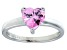 Bella Luce®1.92ct Pink Diamond Simulant Rhodium Over Silver Solitaire Ring