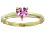 Bella Luce®.75ct Pink Diamond Simulant 18k Yellow Gold Over Silver Ring