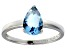 Bella Luce®2.26ct Apatite Simulant Rhodium Over Sterling Silver Solitaire Ring