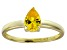 Bella Luce®1.21ct Yellow Diamond Simulant 18k Gold Over Silver Solitaire Ring