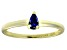 Bella Luce®.60ct Tanzanite Simulant 18k Yellow Gold Over Silver Solitaire Ring