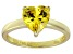Bella Luce®2.90ct Yellow Diamond Simulant 18k Gold Over Silver Solitaire Ring