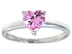 Bella Luce®1.25ct Pink Diamond Simulant Rhodium Over Silver Solitaire Ring