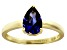 Bella Luce®2.26ct Tanzanite Simulant 18k Yellow Gold Over Silver Solitaire Ring
