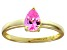 Bella Luce®1.21ct Pink Diamond Simulant 18k Yellow Gold Over Silver Ring