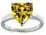 Bella Luce®5.38ct Yellow Diamond Simulant Rhodium Over Silver Solitaire Ring