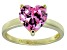 Bella Luce®4.10ct Pink Diamond Simulant 18k Yellow Gold Over Silver Ring