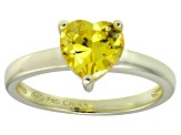 Bella Luce®1.92ct Yellow Diamond Simulant 18k Gold Over Silver Solitaire Ring
