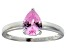 Bella Luce ® 1.38ct Pink Diamond Simulant Rhodium Over Silver Solitaire Ring