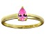 Bella Luce®.67ct Pink Diamond Simulant 18k Yellow Gold Over Silver Ring