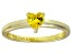 Bella Luce®.75ctyellow Diamond Simulant 18k Gold Over Silver Solitaire Ring