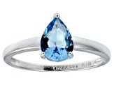 Bella Luce®1.38ct Apatite Simulant Sterling Silver Solitaire Ring