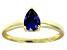 Bella Luce®1.21ct Tanzanite Simulant 18k Yellow Gold Over Sterling Silver Ring