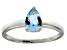 Bella Luce®1.21ct Pear Shape Apatite Simulant Sterling Silver Solitaire Ring