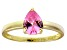Bella Luce®1.38ct Pink Diamond Simulant 18k Yellow Gold Over Silver Ring