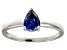 Bella Luce®1.21ct Pear Shape Tanzanite Simulant Sterling Silver Solitaire Ring
