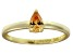 Bella Luce®.67ct Champagne Diamond Simulant 18k Yellow Gold Over Silver Ring