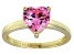 Bella Luce®2.90ct Pink Diamond Simulant 18k Gold Over Silver Solitaire Ring