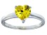 Bella Luce®1.92ct Yellow Diamond Simulant Rhodium Over Silver Solitaire Ring