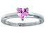 Bella Luce®.75ct Pink Diamond Simulant Rhodium Over Silver Solitaire Ring
