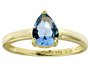 Bella Luce®1.38ct Apatite Simulant 18k Yellow Gold Over Silver Solitaire Ring