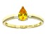 Bella Luce®.67ct Yellow Diamond Simulant 18k Gold Over Silver Solitaire Ring