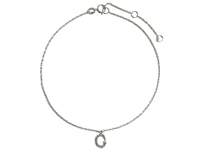 Bella Luce™ .21ct Rhodium Over Sterling Silver initial