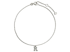 Bella Luce™ .28ct Rhodium Over Sterling Silver initial