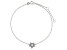 Bella Luce™ .29ct Diamond Simulant Rhodium Over Sterling Silver Star Anklet