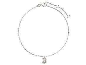 Bella Luce™ .22ct Rhodium Over Sterling Silver initial