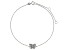 Bella Luce™ .18ct Rhodium Over Sterling Silver Butterfly Anklet