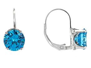 Bella Luce® 5.98ctw Neon Apatite Simulant Silver Leverback Earrings