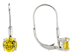 Bella Luce® 2.40ctw Yellow Diamond Simulant Silver Leverback Earrings