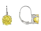 Bella Luce® 6.40ctw Yellow Diamond Simulant Silver Leverback Earrings