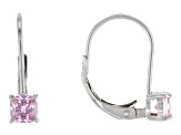 Bella Luce® 1.04ctw Pink Diamond Simulant Silver Leverback Earrings