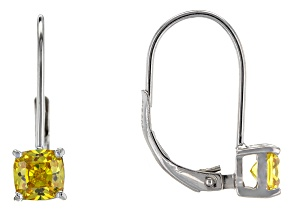 Bella Luce® 1.88ctw Yellow Diamond Simulant Silver Leverback Earrings