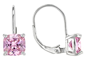 Bella Luce® 5.32ctw Pink Diamond Simulant Silver Leverback Earrings