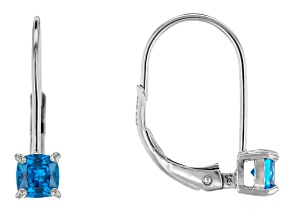 Bella Luce® .95ctw Neon Apatite Simulant Silver Leverback Earrings