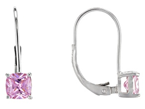 Bella Luce® 1.99ctw Pink Diamond Simulant Silver Leverback Earrings