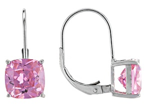 Bella Luce® 7.70ctw Pink Diamond Simulant Silver Leverback Earrings