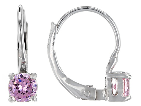 Bella Luce® .77ctw Pink Diamond Simulant Silver Leverback Earrings
