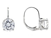 Bella Luce® 6.82ctw Diamond Simulant Rhodium Over Silver Leverback Earrings