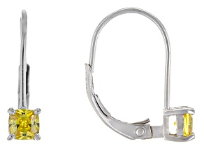 Bella Luce® .94ctw Yellow Diamond Simulant Silver Leverback Earrings