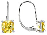 Bella Luce® 5.03ctw Yellow Diamond Simulant Silver Leverback Earrings