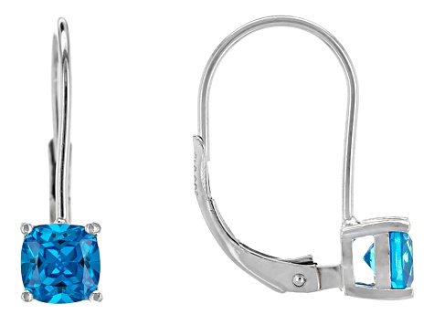 Bella Luce® 1.82ctw Neon Apatite Simulant Silver Leverback Earrings